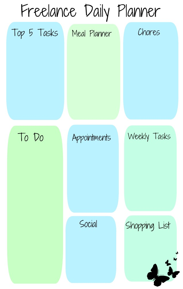 Free Printable: The Freelance Daily Planner