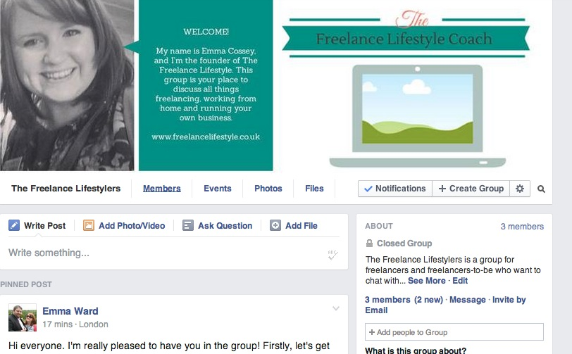 The Freelance Lifestylers Facebook group