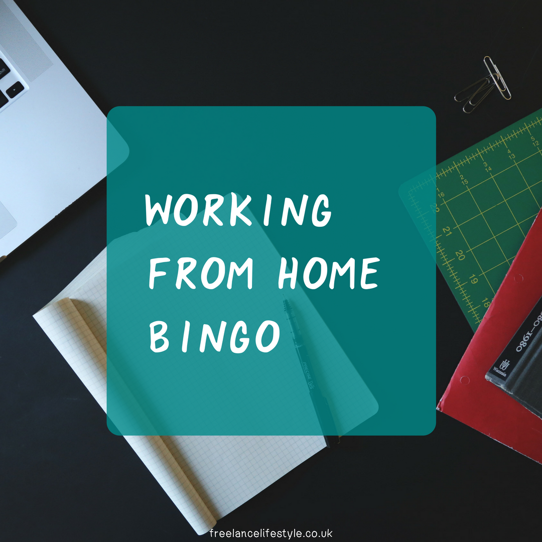 Working from home bingo