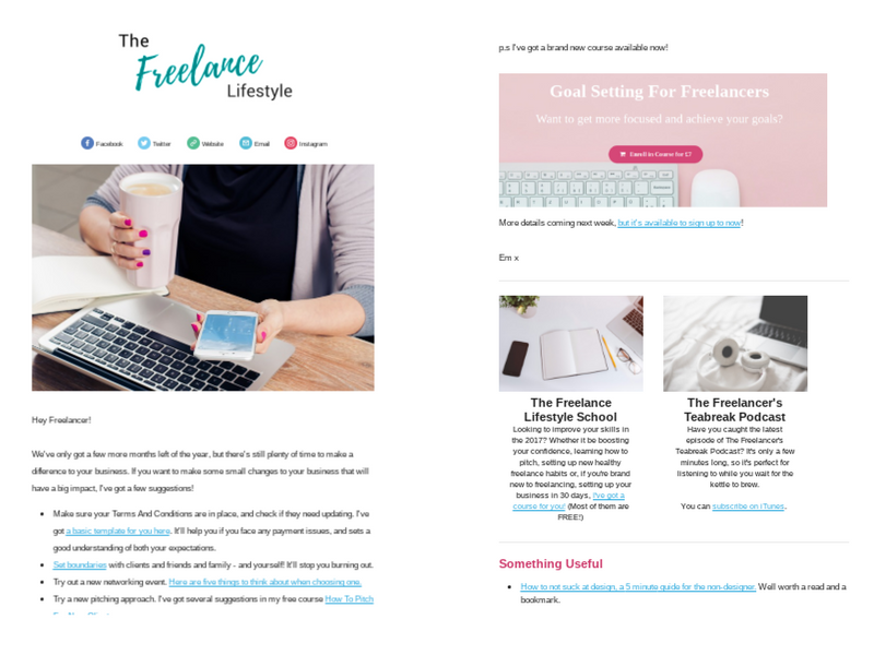 Freelance Lifestyle Newsletter 2