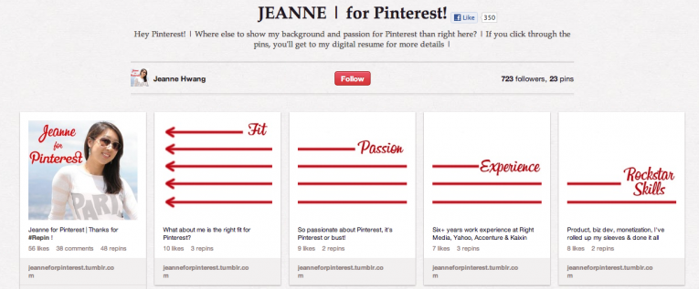 Pinterest CV