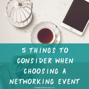 choosing a networking event