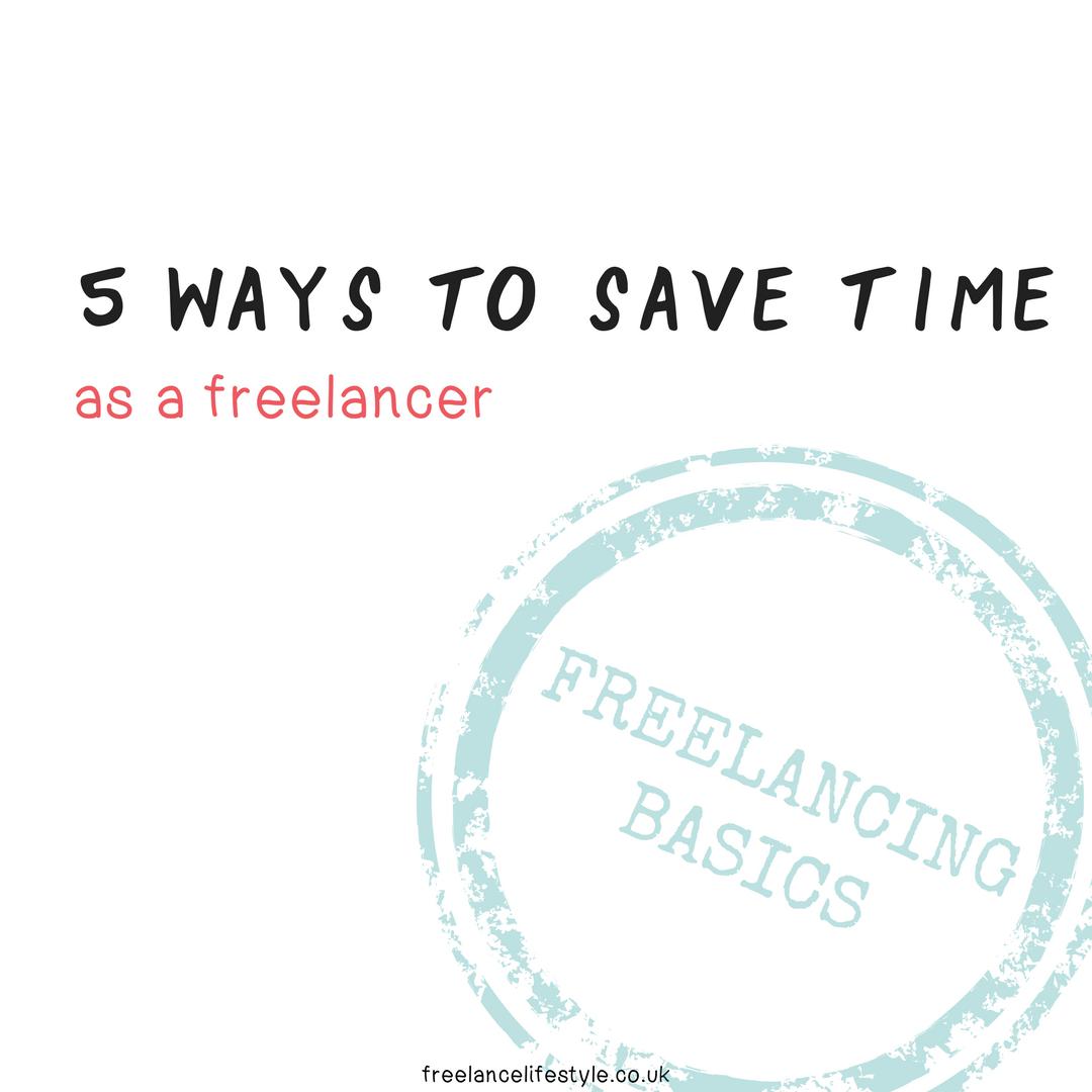 save time as a freelancer